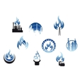 Gas industry symbols and icons vector image vector image