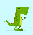 green dino in action 02 vector image vector image
