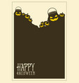 halloween frame invitation style collection vector image vector image