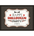 Happy Halloween Party card Typography letters font vector image vector image