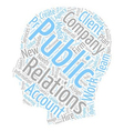 How Do PR Companies Work text background wordcloud vector image