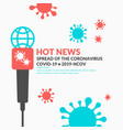 informational news poster about spread the vector image
