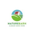 leaf nature farm barn logo template vector image