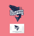 logo seafood salmon seafood restaurant identity vector image