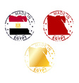 made in Egypt stamp vector image