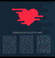 meltedheart banner vector image vector image