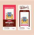 mothers day card with message logo and pink theme vector image