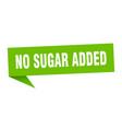 no sugar added speech bubble no sugar added vector image vector image