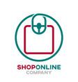 online store logo vector image vector image