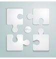 Paper flat puzzle template layout vector image vector image