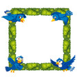 plant and bird border vector image vector image