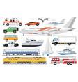 public transport set passenger vehicle vector image