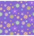 Seamless background with hand-drawn flowers vector image vector image