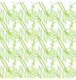 seamless floral pattern with tropical leaves line vector image vector image