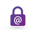 secure mail icon isolated on whitebackground vector image vector image
