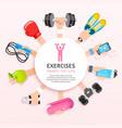 set exercises conceptual design vector image