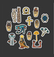 set of ancient egyptian sacred elements vector image vector image