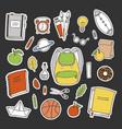 set of school stickers vector image vector image