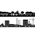 Set of silhouettes cityscapes vector image vector image