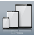 Set of Smart phone and Tablet vector image vector image