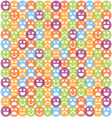 Smile icon seamless pattern