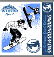 snowboarders - set vector image vector image