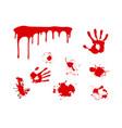 splash blood vector image vector image
