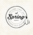 Spring Typography Background in Vintage Style vector image vector image
