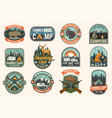 summer camp and hunting club patches vector image vector image