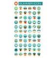 Summer icon set Summer Vacation vector image