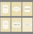 template collection in vintage pattern with badges vector image vector image