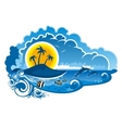 Tropical island paradise vector image vector image