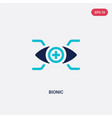 two color bionic icon from augmented reality vector image vector image