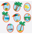 vacation theme vector image vector image