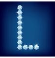 vector diamond alphabet letter l vector image