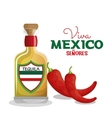 viva mexico tequila and chili graphic vector image vector image