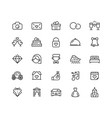 wedding icon set in line style 64x64 pixel perfect vector image vector image
