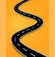 winding road on a colorful background eps 10 vector image