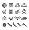 wood icon vector image