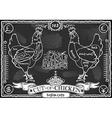 Vintage Blackboard of English Cut of Chicken vector image