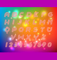 line alphabet font letters set vector image