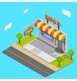 Online shop flat isometric concept vector image
