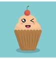 cartoon cupcake bakery design isolated vector image