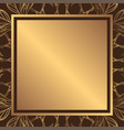 a square golden background with a decorative vector image