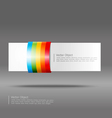 Abstract rainbow stripe banner vector | Price: 1 Credit (USD $1)