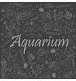 Aquarium chalk vector image vector image