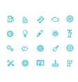 auto repair service outline symbols vector image vector image
