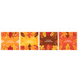 autumn background leaves for banner poster vector image