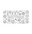 bacteria horizontal thin line vector image
