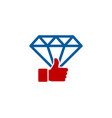 best diamond logo icon design vector image